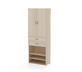 СЛИМ ПРАКТИК - шкаф-витрина (СП950Д)