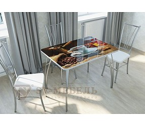КОФЕ - обеденный стол с фотопечатью