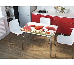 МАКИ - обеденный стол с фотопечатью