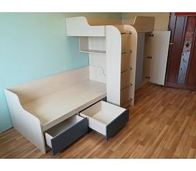 ДЕТСКАЯ И ПОДРОСТКОВАЯ - мебель по эскизам, установка: Гомель, ул.Войкова 101