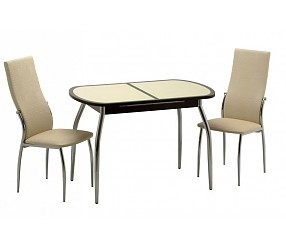 Касабланка 2 (хром) - стол обеденный
