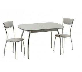 Касабланка 1 (хром) - стол обеденный