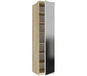 ФИДЖИ - шкаф с полками одностворчатый с зеркалом