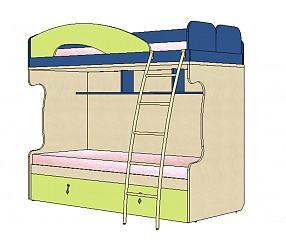 МИА - кровать двухъярусная с доп.спальным местом