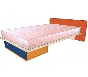 СИЛУЭТ - кровать прямая (1200х2000)