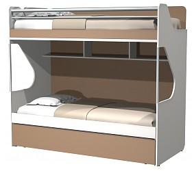 СИЛУЭТ - кровать двухъярусная с доп.спальным местом