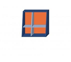 СИЛУЭТ - шкаф навесной открытый (СФ-266302)