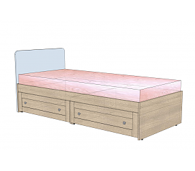 ВЕРЕС - кровать прямая (СФ-398801, СФ-398903)