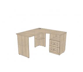 ВЕРЕС - стол угловой с тумбой (СФ-391905)
