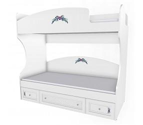 БЕЛОСНЕЖКА - кровать двухъярустная (93K024)