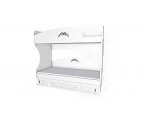 БЕЛОСНЕЖКА - двухъярустная кровать (93K024)