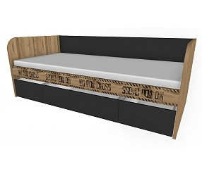 БЛЕЙК - кровать-тахта с ящиками (127K001 + 118K0012 + 118K0011)