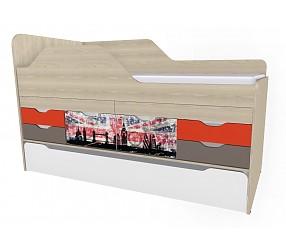 ГЕО ЛОНДОН - кровать-тахта с выдвижными столами (92К133)