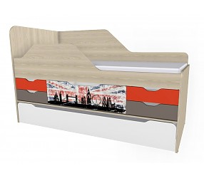 ГЕО ЛОНДОН - кровать-тахта с дополнительным спальным местом (92К141)