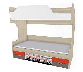 ГЕО ЛОНДОН - кровать двухъярусная (92K064)