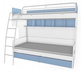 СОЛНЕЧНЫЙ ГОРОД - кровать двухъярусная с лестницей (51K031 + 51K023)