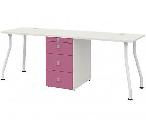 СОЛНЕЧНЫЙ ГОРОД - стол двойной на изогнутых опорах