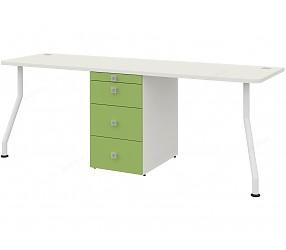 СОЛНЕЧНЫЙ ГОРОД - стол двойной встраиваемый в шкаф-модуль