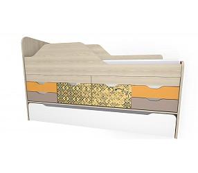 ГЕО САФАРИ - кровать двухъярусная с выдвижными столами (92K131)