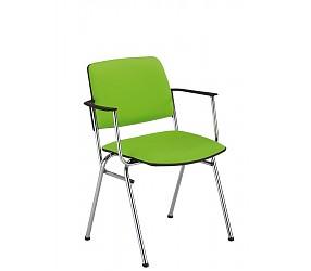 ISIT arm chrome/white - стул для посетителей