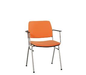 ISIT LUX arm chrome/white  - стул для посетителей