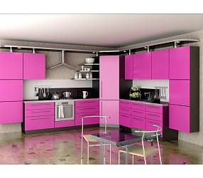 Разные коллекции кухонь с фасадами из крашеннего MDF