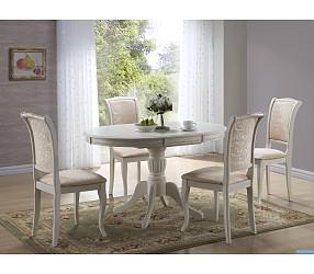 Olivia bianco - стол обеденный деревянный  (раскладной)