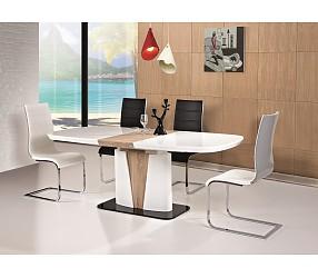 CANGAS - стол обеденный с лаковым покрытием  (раскладной)