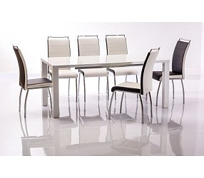 MONTEGO II 120X80 - стол обеденный с лаковым покрытием (раскладной)