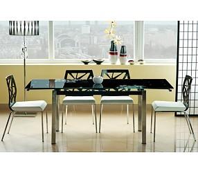 GD-017 - стол обеденный стеклянный (раскладной)