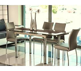 GD-018 - стол обеденный стеклянный (раскладной)