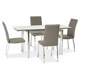 GD-019 - стол обеденный стеклянный (раскладной)