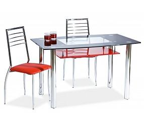 TWIST A - стол обеденный стеклянный