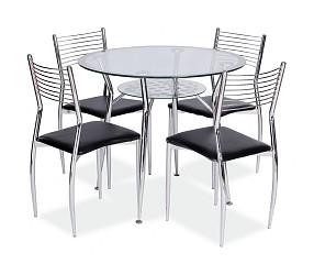 MOLAR - стол обеденный стеклянный