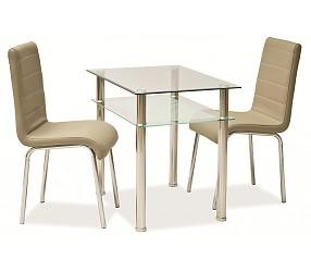 PIXEL 120X70 - стол обеденный стеклянный