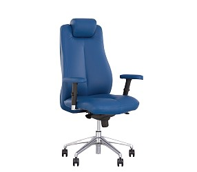 SONATA R steel chrome - кресло для руководителя