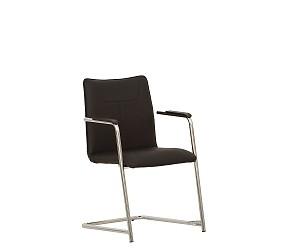 DESILVA arm chrome - стул для посетителей