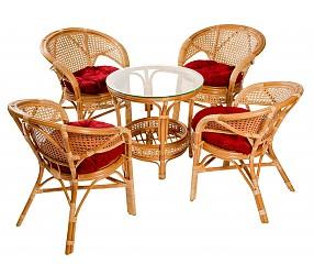 4 СЕЗОНА - набор для отдыха (стол + 4 кресла)