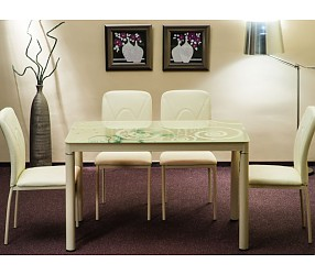 DAMAR - стол обеденный стеклянный