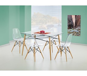 DOMINOS - стол стеклянный