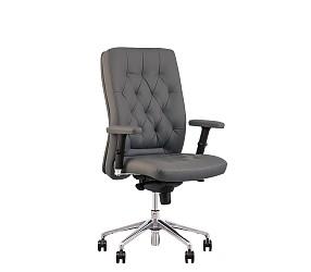 CHESTER R steel chrome - кресло для руководителя