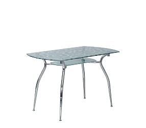CRISTAL chrome - стол обеденный