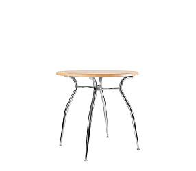 CRISTAL MA chrome - стол деревянный